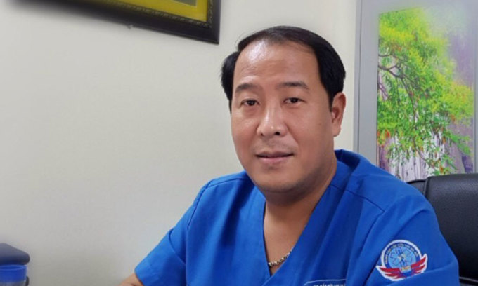 Bác sĩ Trần Anh Thắng, Phó Giám đốc Trung tâm Cấp cứu 115 Hà Nội. Ảnh: Văn Phong.