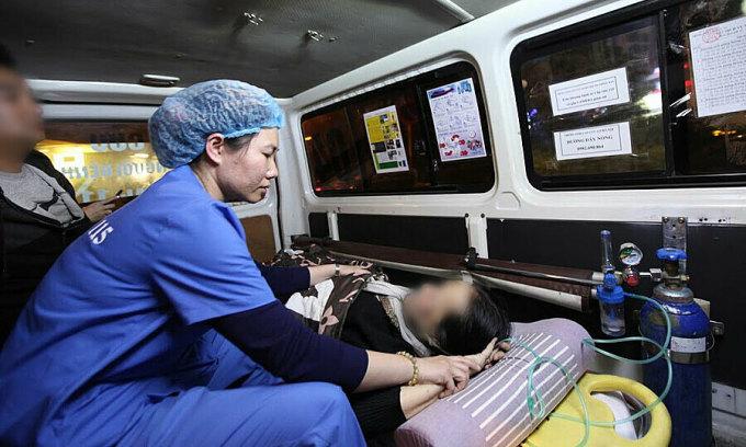 Một ca cấp cứu do Trung tâm Cấp cứu 115 Hà Nội phụ trách. Ảnh: Anh Dũng.