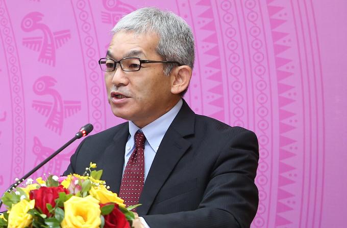Ông Keiji Kaneko, Tổng giám đốc Ajinomoto Việt Nam, giới thiệu