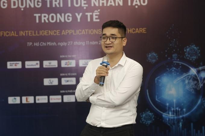 TS Nguyễn Quý Hà chia sẻ về giải pháp VinDr tại Chuyên đề AI trong y tế, sự kiện AI4VN tháng 11 vừa qua.