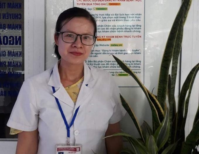Bác sĩ Đỗ Thị Kim Oanh (36 tuổi), khoa Truyền nhiễm, Trung tâm Y tế TP Chí Linh (Hải Dương). Ảnh: Huy Hoàng - Đức Tùy.