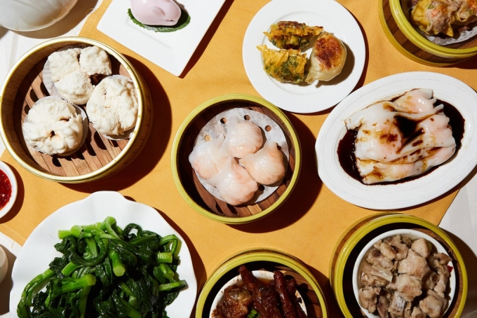 Một số món dimsum của nhà hàng Jing Fong – được mệnh danh là cung điện dimsum- tại New York. Ảnh: New York Times.
