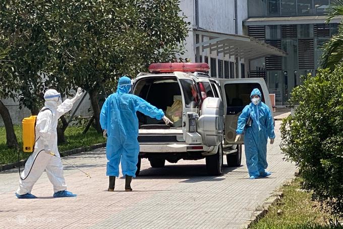Bệnh viện Trung ương Huế cơ sở 2 tiếp nhận bệnh nhân Covid-19. Ảnh Bệnh viện Trung ương Huế
