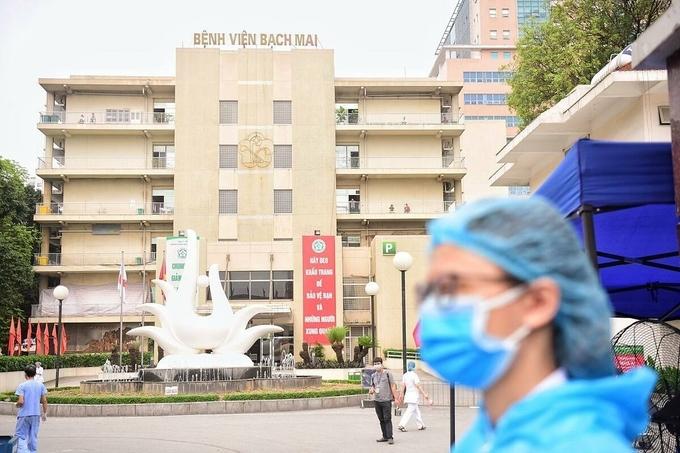 Bệnh viện Bạch Mai. Ảnh:Giang Huy.