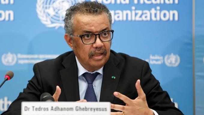 Tổng giám đốc WHO Tedros Adhanom Ghebreyesus phát biểu tại cuộc họp ở Geneva, Thuỵ Sĩ. Ảnh: Reuters