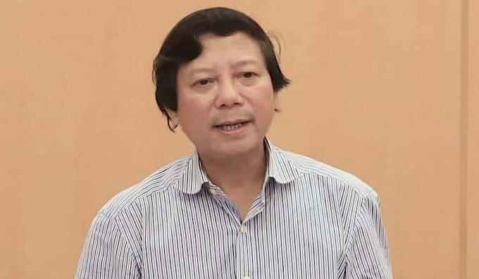 Giám đốc Sở Y tế Hà Nội Hoàng Đức Hạnh. Ảnh:Võ Hải