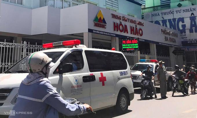 Trung tâm Y khoa Medic Hòa Hảo hoạt động trở lại sau 15 ngày tạm ngưng khám, chữa bệnh. Ảnh: Mỹ Lê.