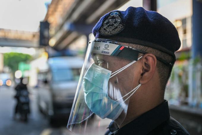 Cảnh sát tại Kuala Lumpur, Malaysia, hôm 1/6. Ảnh: AFP.