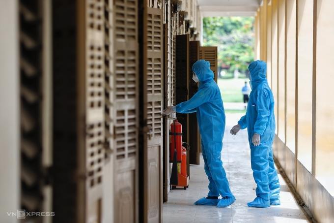Khu cách ly tiếp nhận những trường hợp có liên quan chuỗi lây nhiễm Hội thánh Truyền giáo Phục hưng tại TP HCM. Ảnh: Hữu Khoa.