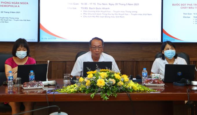 Các đại biểu tại Hội thảo khoa học với chủ đề Liệu pháp mới trong điều trị dự phòng chảy máu trên bệnh nhân máu khó đông Hemophilia A.