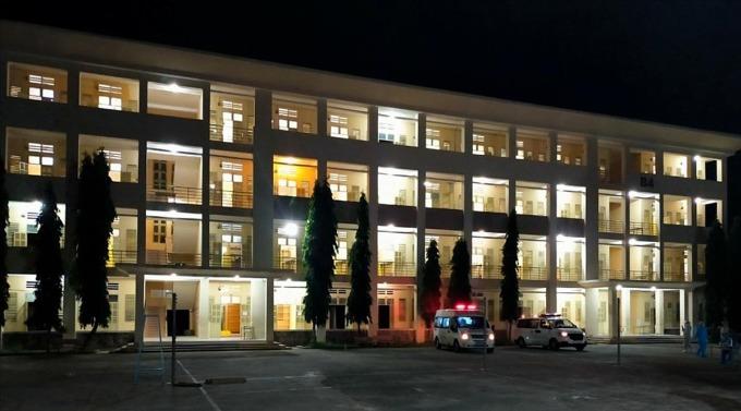 Bệnh viện dã chiến thu dung điều trị Covid-19 số 1. Ảnh: Sở Y tế TP HCM.