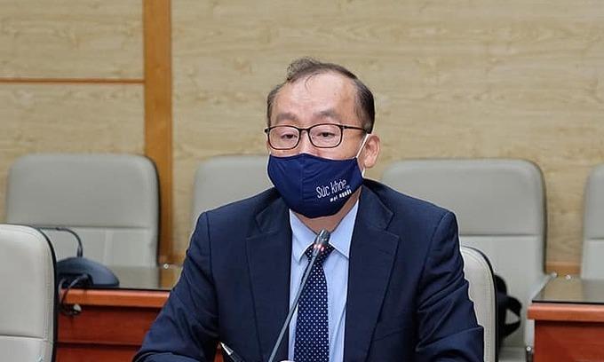 Tiến sĩ Kidong Park, Trưởng đại diện Tổ chức Y tế Thế giới tại Việt Nam. Ảnh: MOH.