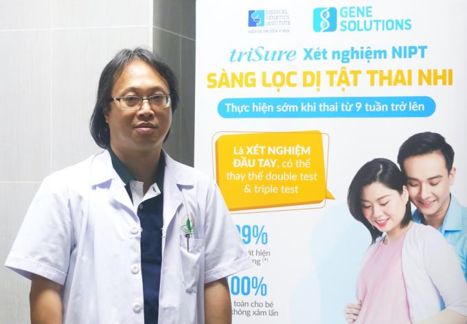 [Caption]ThS.BS Nguyễn Cảnh Chương - Giám đốc Trung tâm Đào tạo & Chỉ đạo tuyến - Bệnh viện Phụ sản Hà Nội đánh giá cao xét nghiệm triSure NIPT.