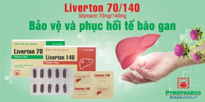 Liverton chứa hoạt chất Silymarin chiết xuất từ cây kế sữa, có tác dụng ngăn chặn các chất độc vào bên trong tế bào gan.