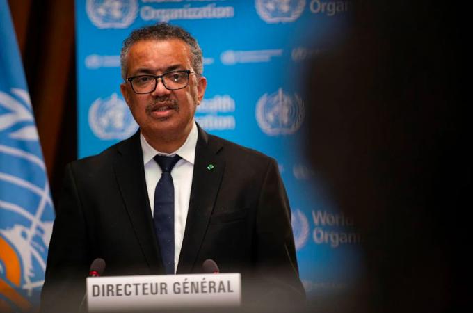 Giám đốc WHO Tedros Adhanom Ghebreyesus tại cuộc họp ở Geneva, Thụy Sĩ, tháng 1/2021. Ảnh: Reuters