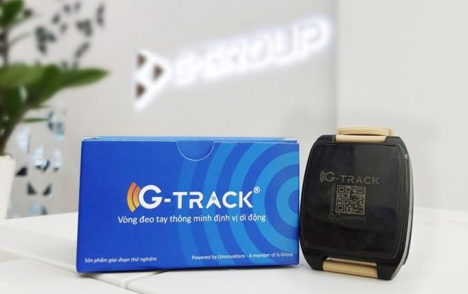 Vòng đeo tay điện tử G-Track được nghiên cứu và sản xuất bởi G-Group. Ảnh: G-Group.