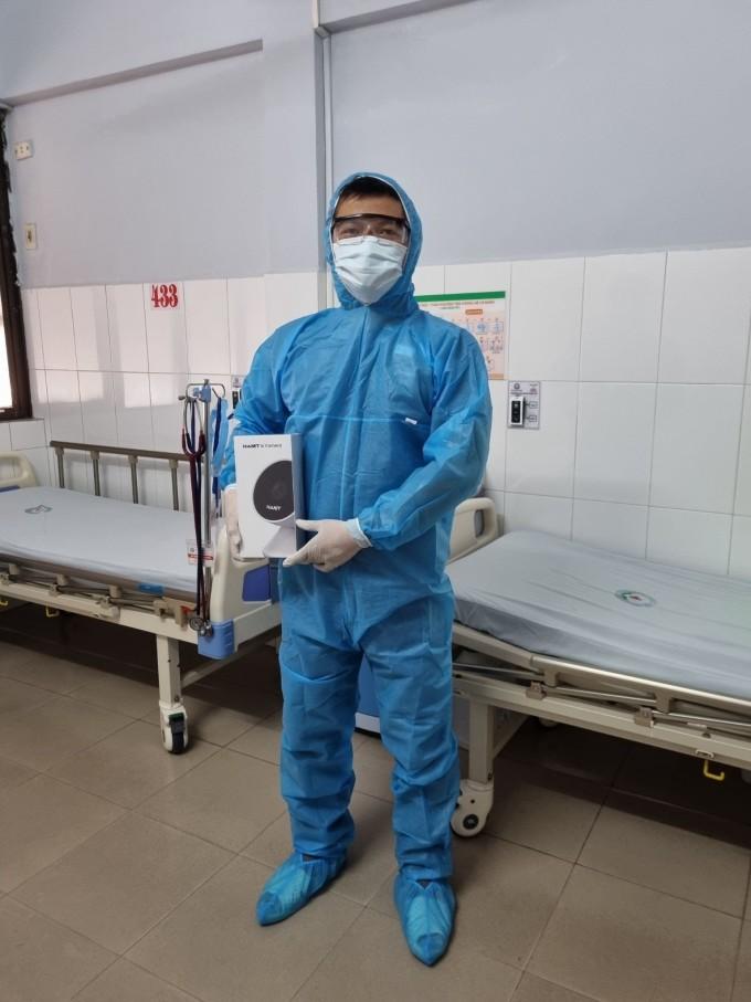 Đội ngũ G-Group đến Bệnh viện Bưu điện cơ sở 2 để khảo sát và triển khai lắp đặt AI camera trong tháng 7. Ảnh: G-Group.